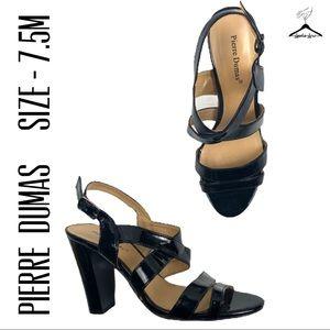 Pierre Dumas Black Aylin-1 Strap Heel Sandals